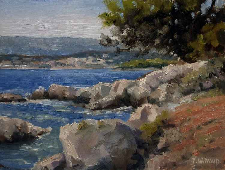 Cove on the Island St Honorat