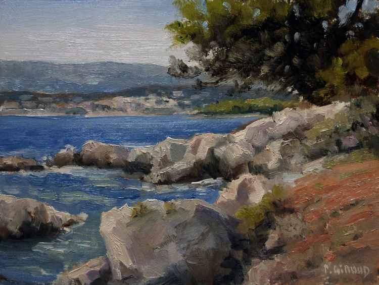 Cove on the Island St Honorat -