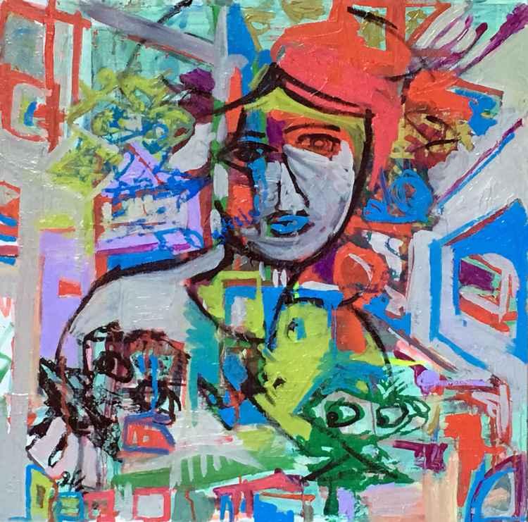 Helena, oil on canvas, 24x24 -