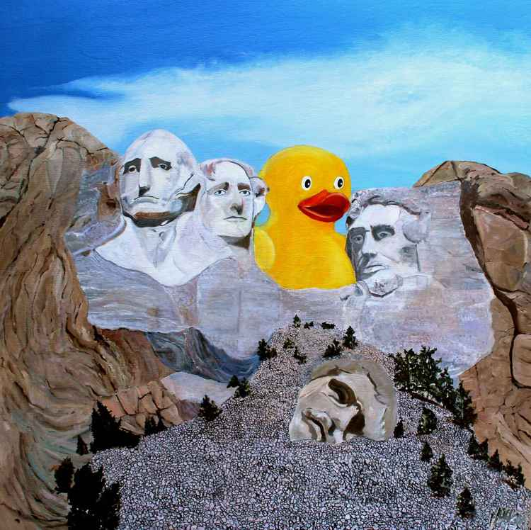 Ducky Violates US Park Servive Statute 237_A4 Displacing the Head of an American President