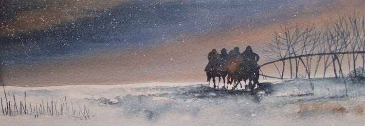 Riders in the Snow -