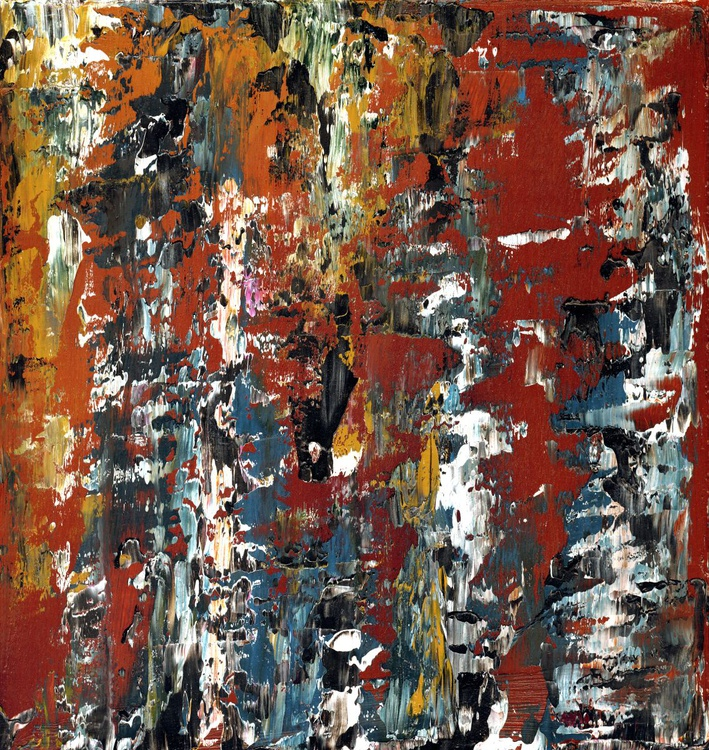 Ab14 ix - Dragged paint Abstract - Image 0
