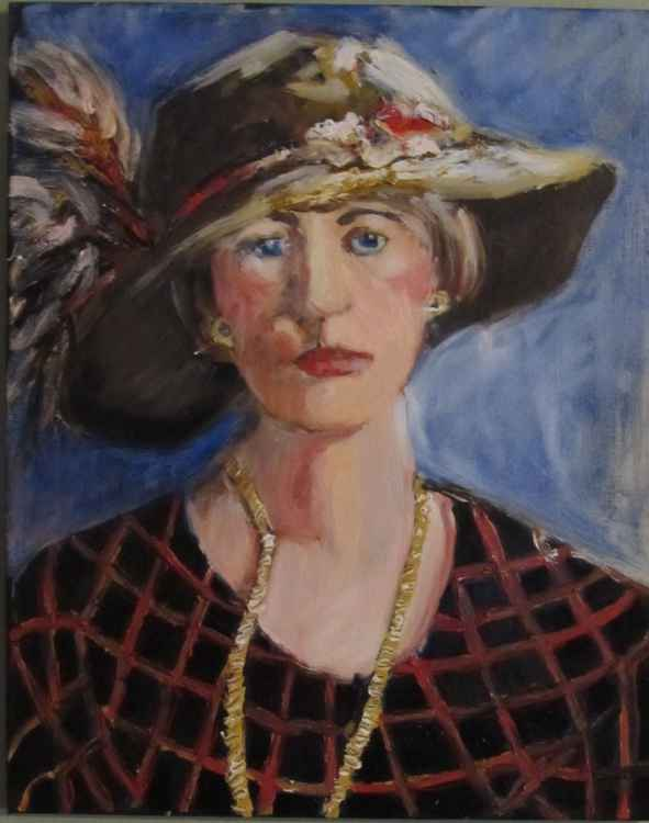 Woman with a Feathered Hat -