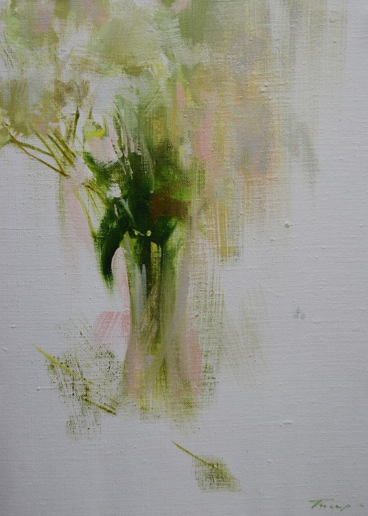 """Floral oil painting """" My fair lady """" ( 106sl14 ) - Image 0"""