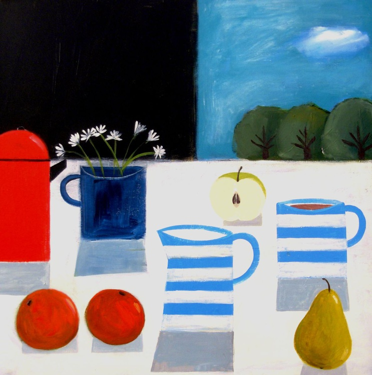 Breakfast Table with Daisies - Image 0