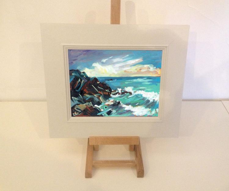 Waves crashing Challaborough Bay - Image 0