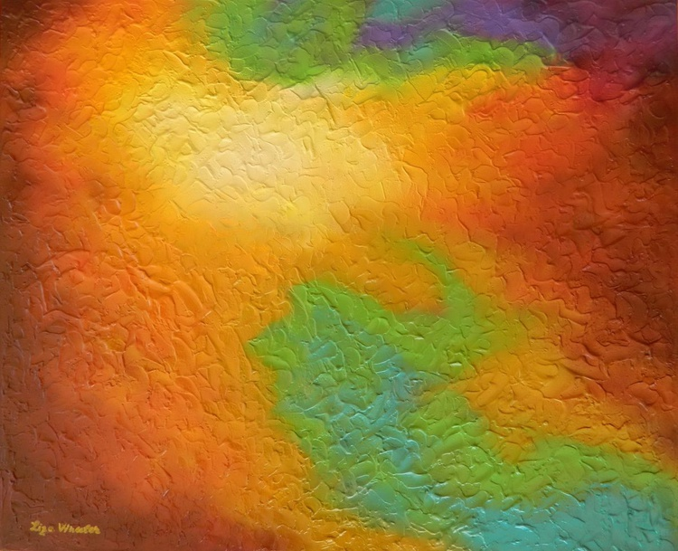 The Convergence - Original, unique, large colorful  contemporary abstract fine art textured painting - Image 0