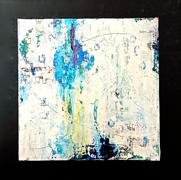 small abstract painting, gift - Image 0