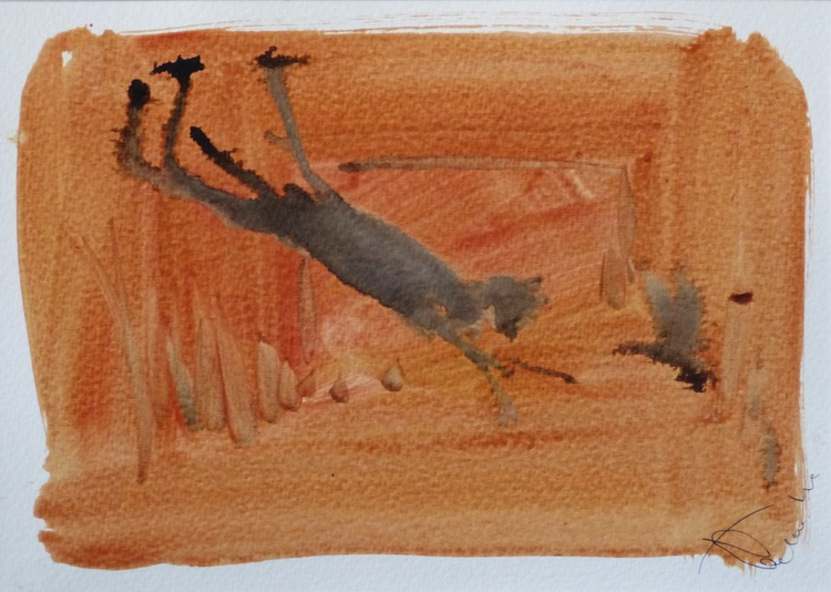 The Cat on Holiday #2, small budget 21x15 cm - Image 0