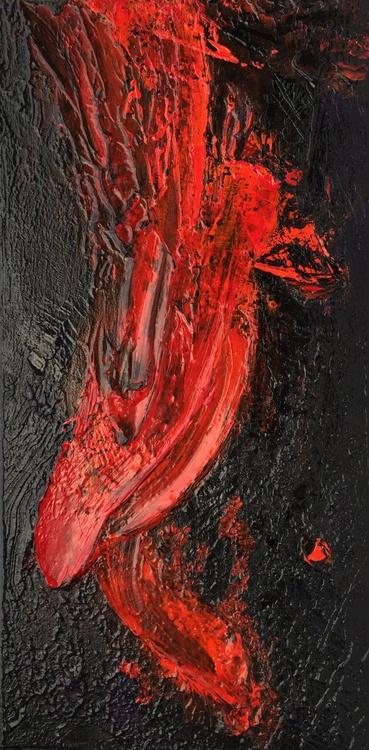 So Hot #16004 (30x60cm) Textural Abstract Art - Image 0