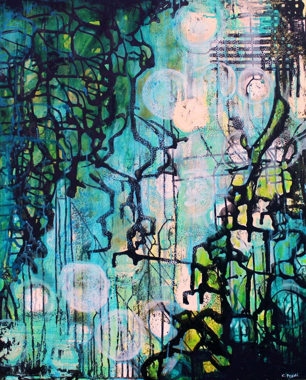 Too many things - large Abstract Painting - Image 0