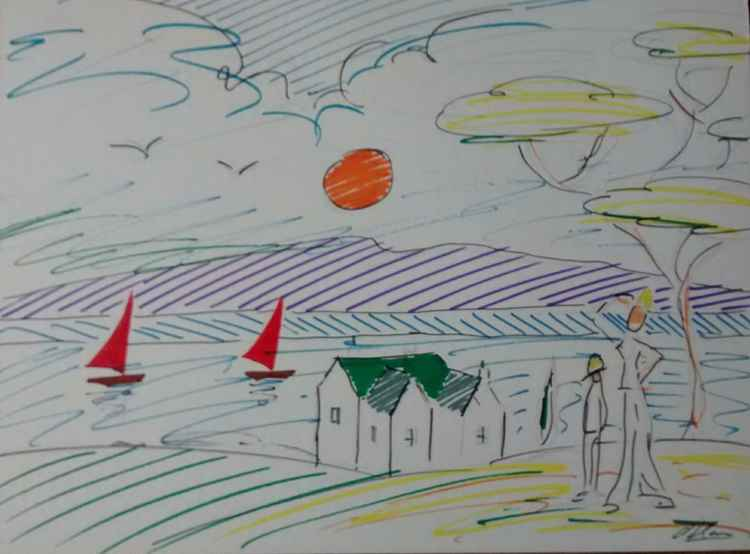 Sailboats, Solway. -