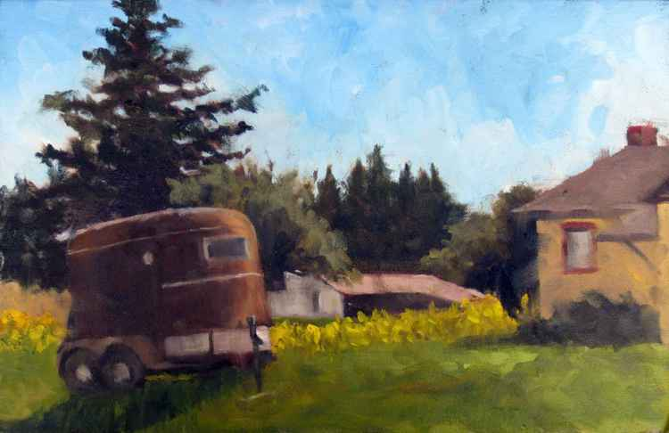 Horse Trailer and Mustard