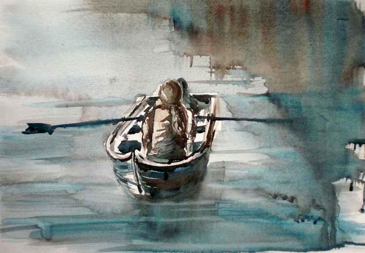 in the boat -