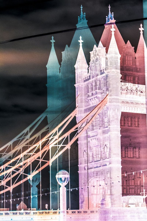 """TOWER BRIDGE DOUBLE VISION (INVERT) NO:2 (Limited edition  1/20 15""""X10"""") - Image 0"""