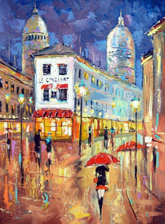 Lights of Paris - original paintings, 49cm x 64 cm, 2013 - Image 0