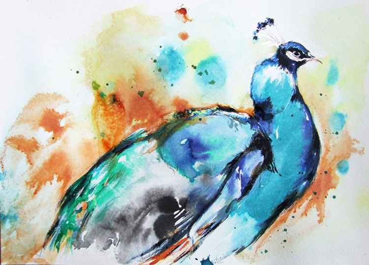 Peacock- Original Watercolour -