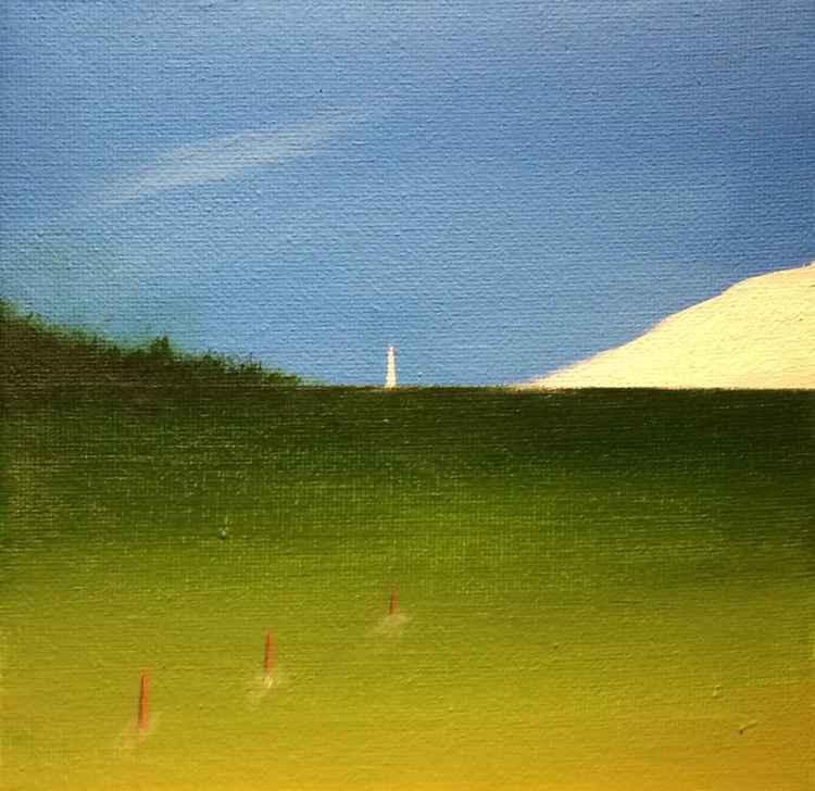 """ from a distance ""Seascape  ( miniature size)15x15x1cm -"
