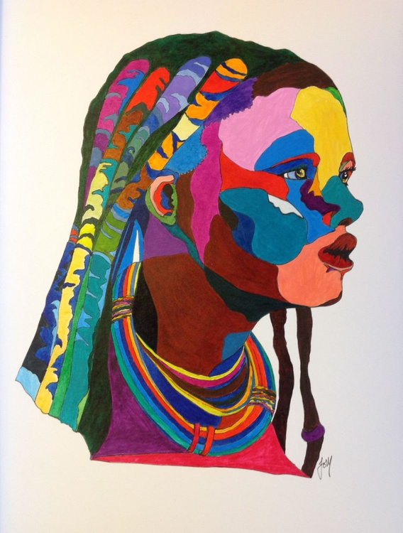 African Woman- SOLD - Image 0