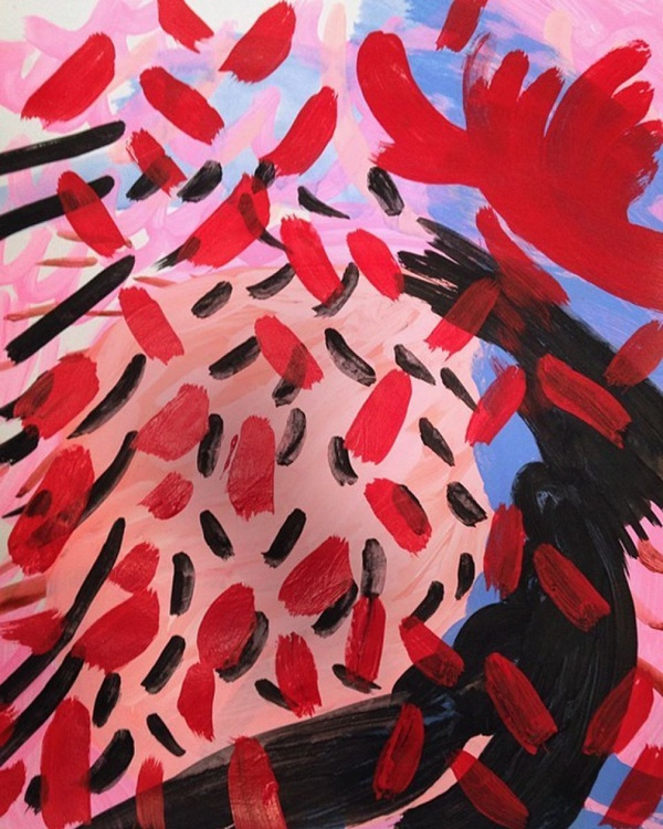 Red Abstract Untitled - Image 0