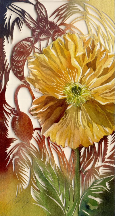 wasp with poppy - Image 0