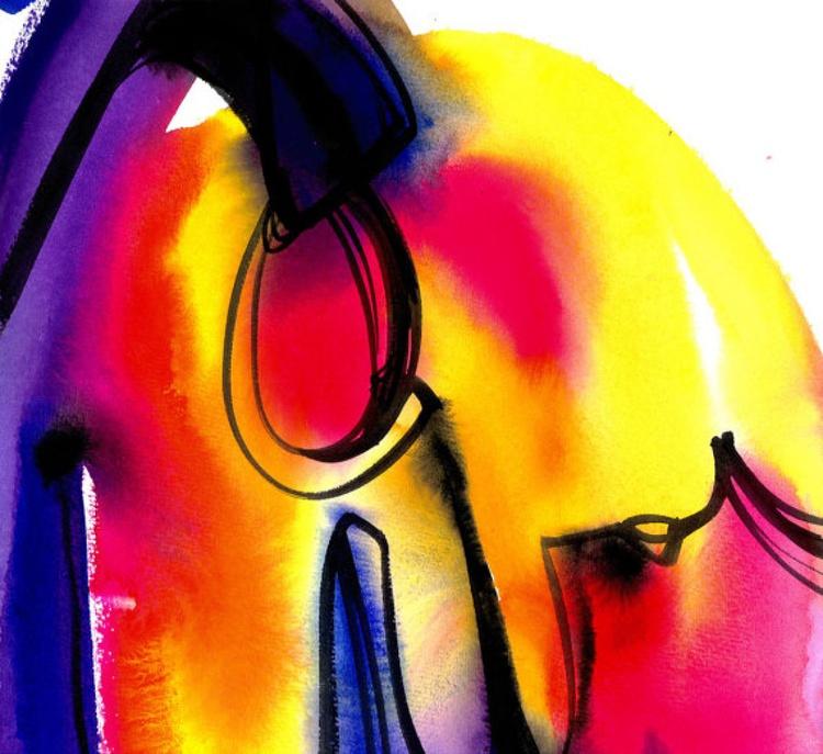 Watercolor Abstraction No. 120 - Image 0