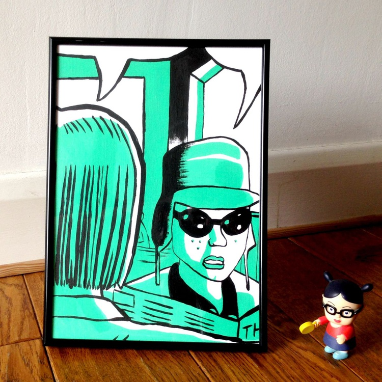 Ghost World Pop Art Painting On A4 Paper - Image 0