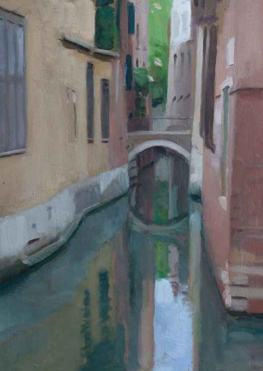 Canal of the cosmic painter in Venice
