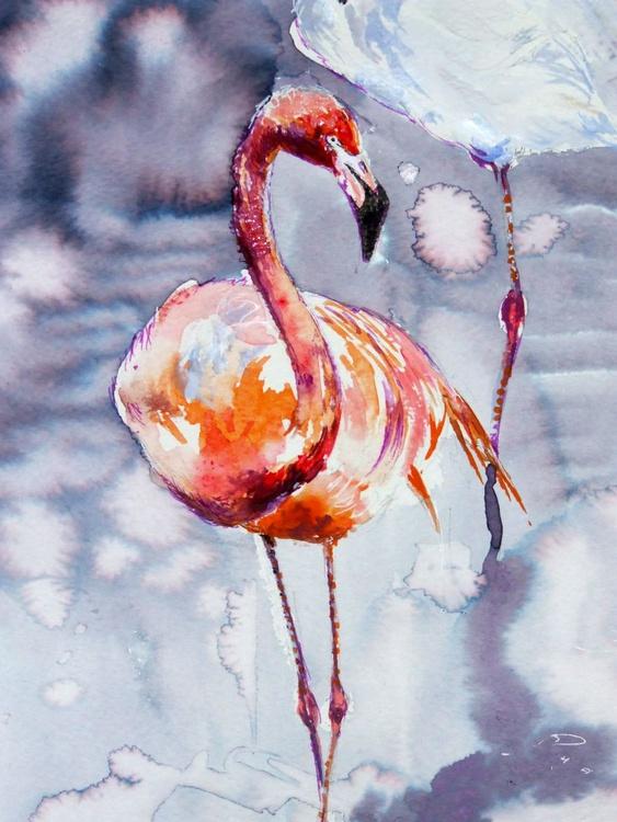 Birds / Flamingos / Watercolour - Image 0