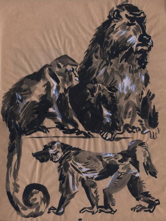 Monkey family - Image 0