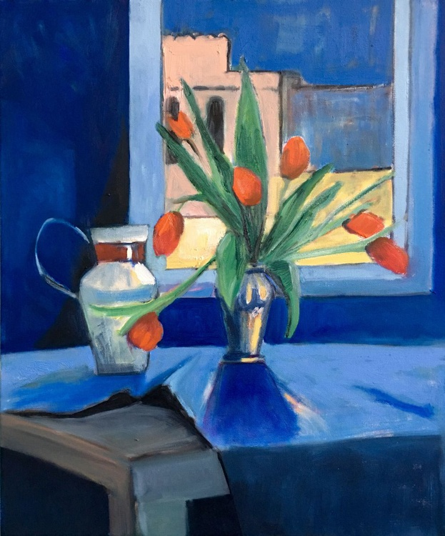 Tulips by the Window - Image 0
