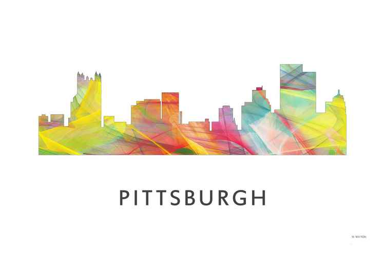 Pittsburgh Pennsylvania Skyline WB1 -
