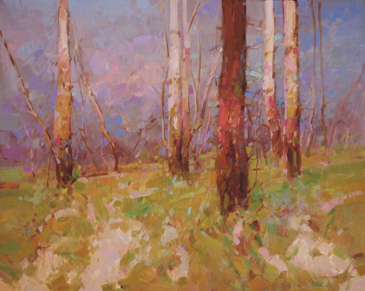 Landscape Oil painting Fall One of a kind Signed Hand Painted - Image 0