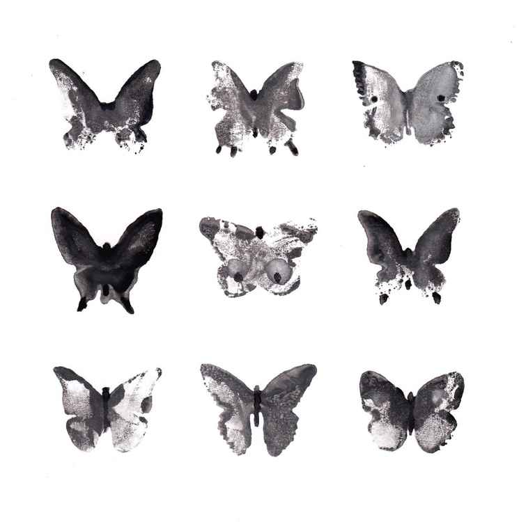 Nine Butterflies 2121BW1