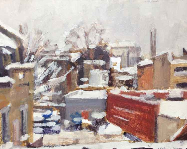 Hackney in the snow -
