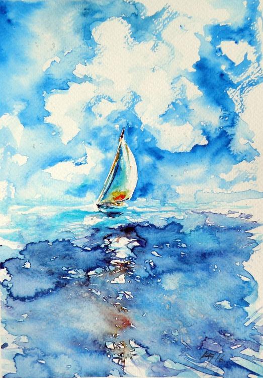 Sailboat on sea II - Image 0
