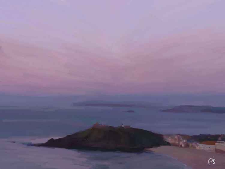 'Evening Draws In' Limited Edition iPad Painting