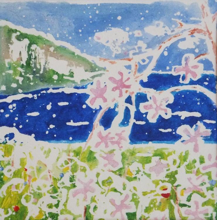 Garden by the sea,decorative art,gift idea,home decor - Image 0
