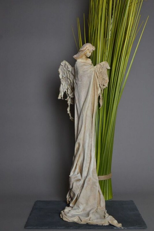 Guardian Angel Sculpture (Dark Ivory) - Image 0