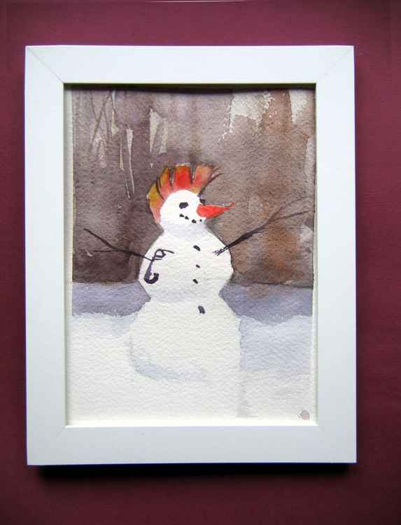 Punk  snowman...