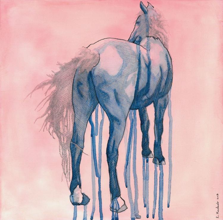 Pink & Blue Horse I - Image 0