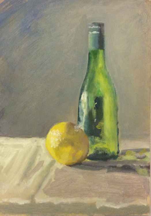 Lemon & bottle -