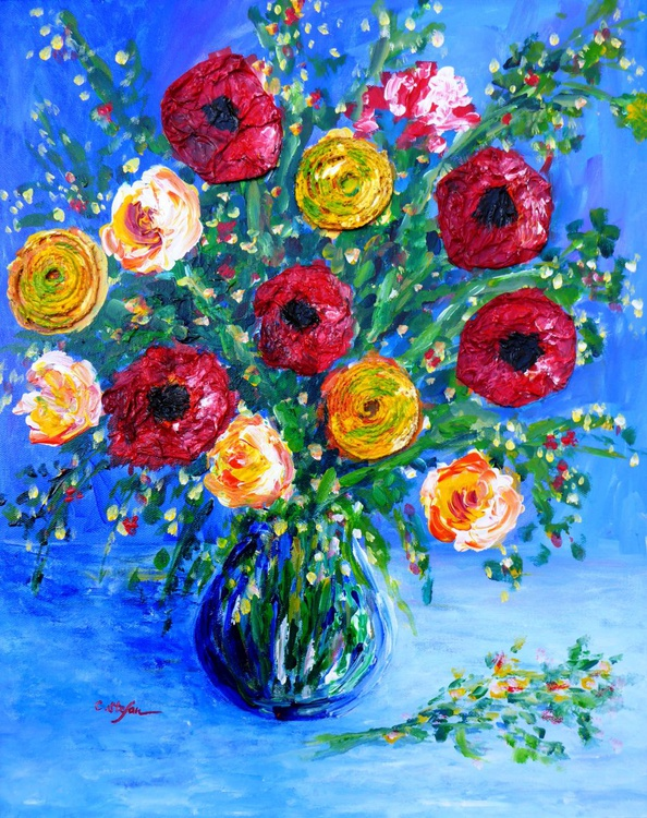 Flowers in a Vase - Image 0