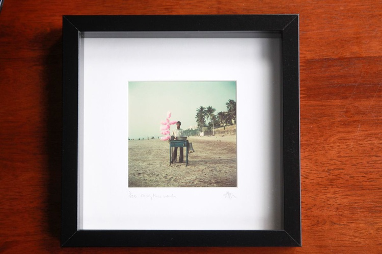 Candyfloss beach - Framed print - Image 0