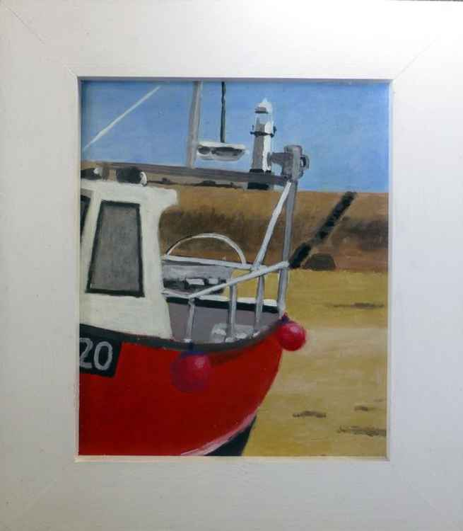 St Ives boat study. -