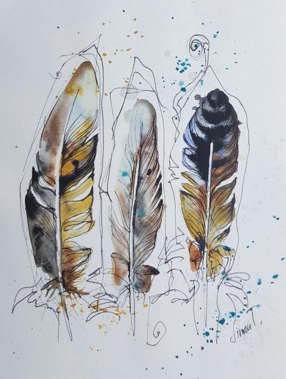 Three feathers - Image 0