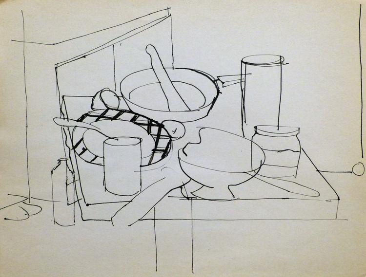 Still Life: Kitchen #6, 31x24 cm - Image 0