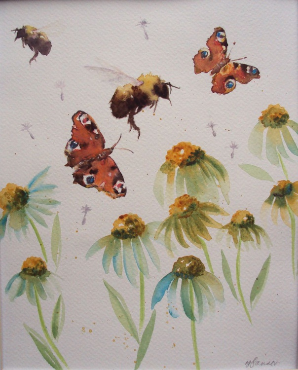 Butterflies, Bees & Daisies - Image 0
