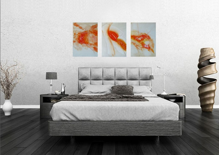 Triptych , Acrylic on paper 3x 58x42 cm - Image 0