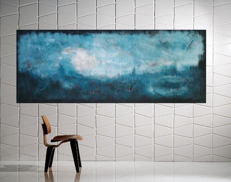 "59x 23,5""( 150x60cm), Samos Island 2 Landscape,  wall design , canvas art, home painting - Image 0"